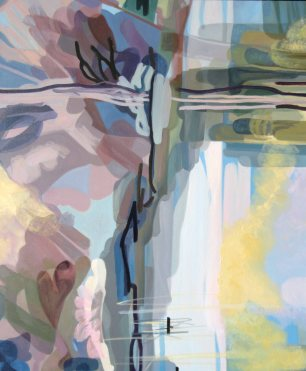 "Sally Parnis, ""Riverscape 1"", 2013, Oil on Canvas, 120cm x 100cm"