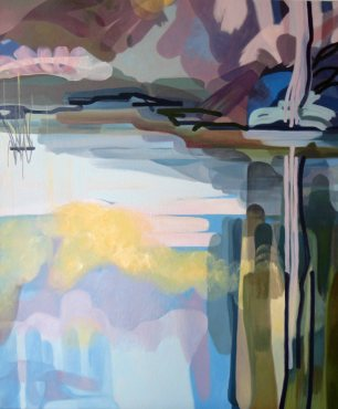 "Sally Parnis, ""Riverscape 2"", 2013, Oil on canvas, 120cm x 100cm"