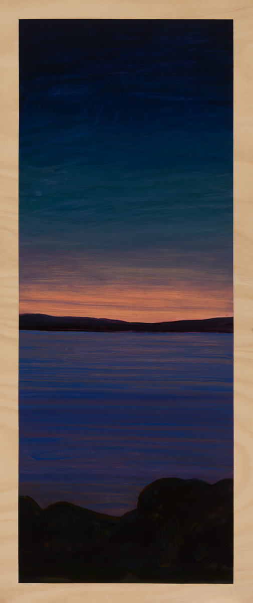The gloaming 2014 Oil on plywood 120cm x 49cm