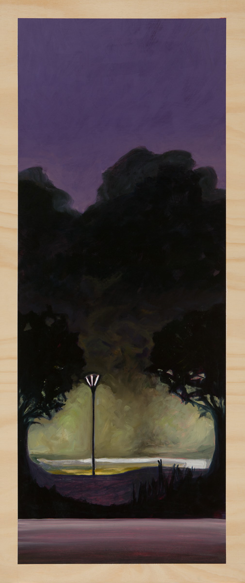 Gloomscape – before dawn 2014 Oil on plywood 120cm x 49cm SOLD