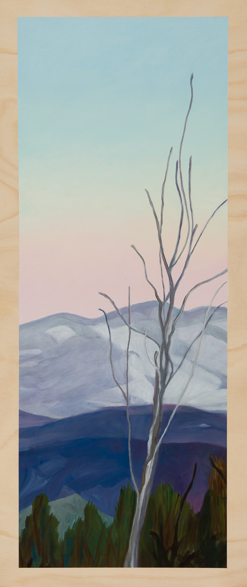 5.Winterscape 2014 Oil on plywood 120cm x 49cm
