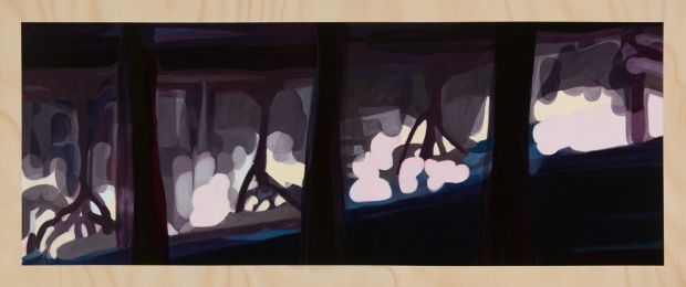 Digiscape – reflections 2014 Oil on plywood 49cm x 120cm