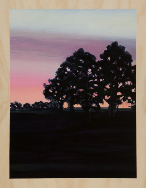 Treescape to the west 2014 Oil on plywood 76cm x 59cm SOLD