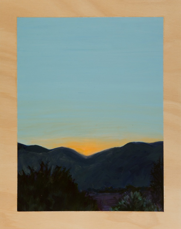 Mountainscape with dawn 2014 Oil on plywood 38cm x 30cm