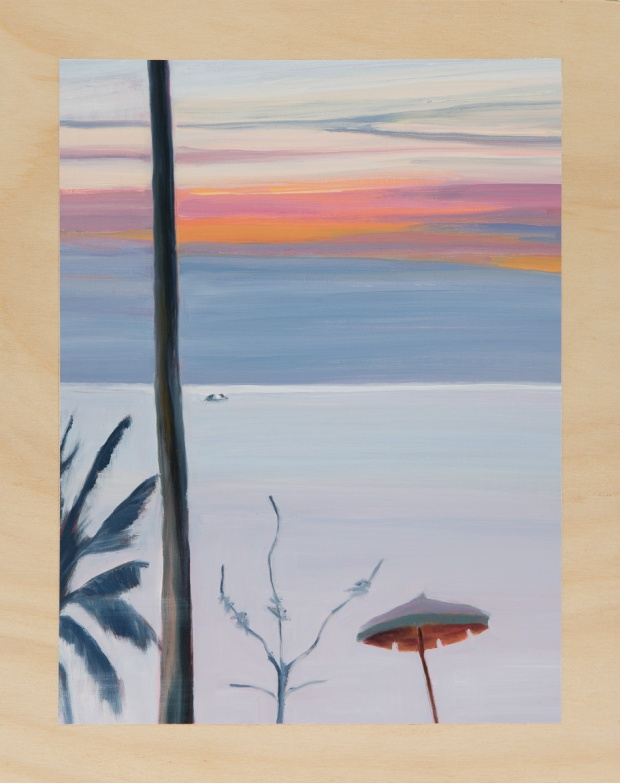 Holidayscape in the leaden-bright evening 2014 Oil on plywood 38cm x 30cm